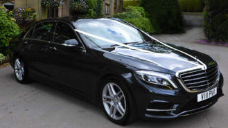 Mercedes 'S' Class LWB wedding car for hire in Wakefield, West Yorkshire