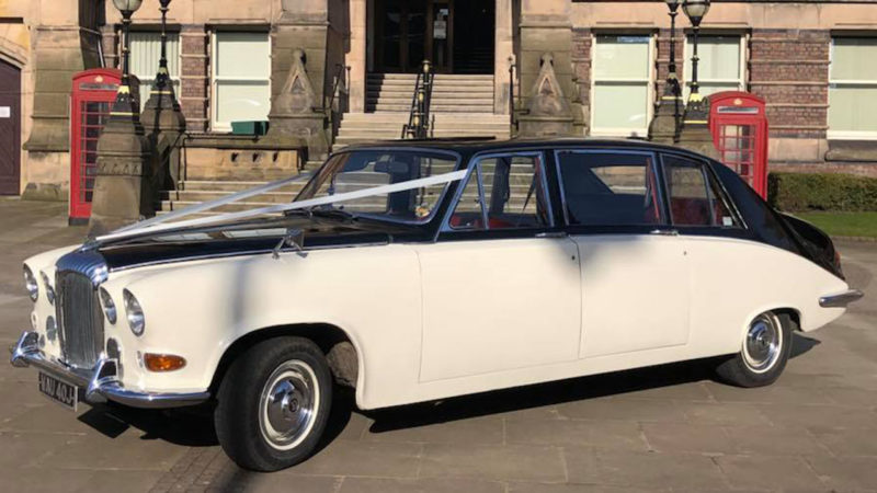 Daimler DS420 Limousine wedding car for hire in Whitstable, Kent