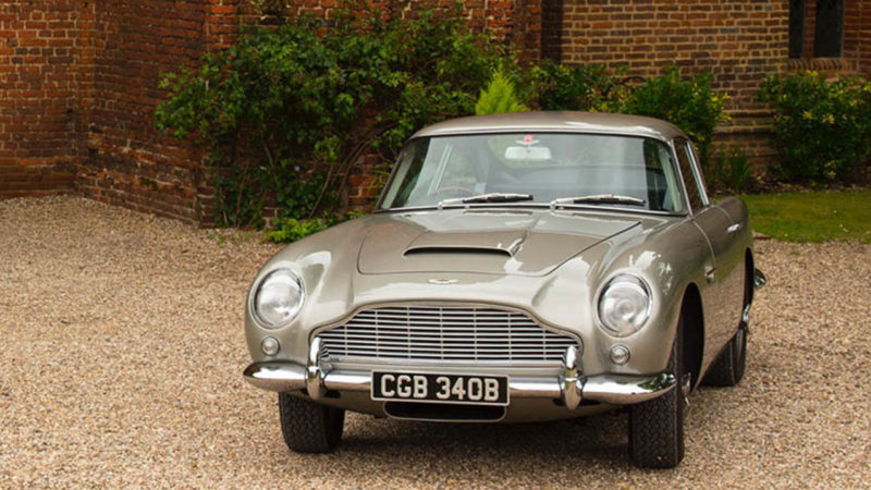 Aston Martin DB5 wedding car for hire in Loughton, Essex
