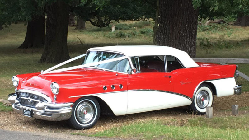 Buick Special Convertible wedding car for hire in Cobham, West London