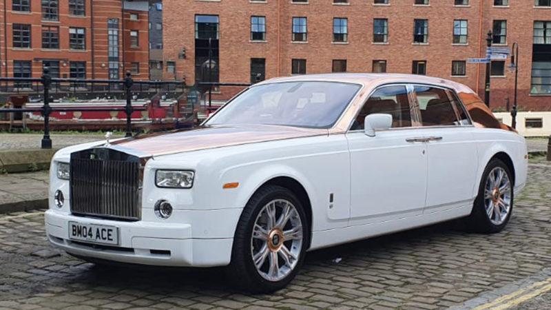 Rolls-Royce Phantom wedding car for hire in Manchester