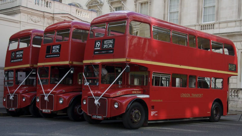 Routemaster Bus wedding car for hire in Hatfield, Hertfordshire