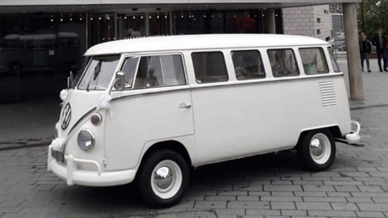 Volkswagen Split Screen Campervan wedding car for hire in Leeds, West Yorkshire