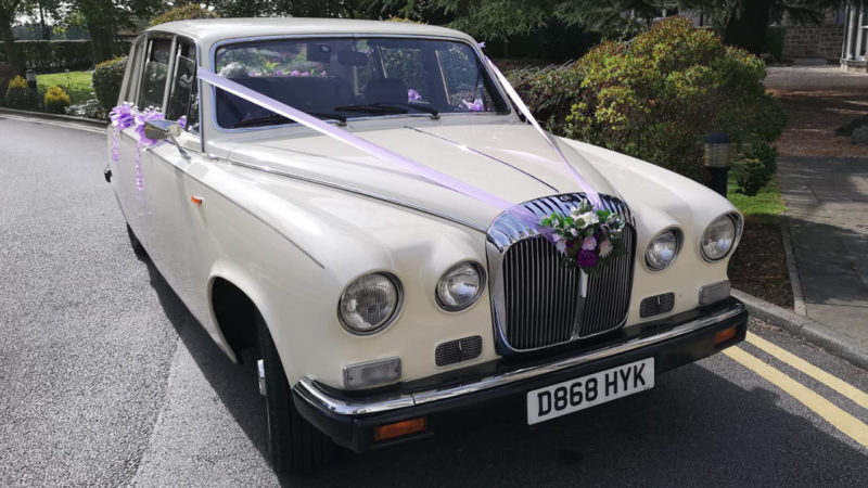 Daimler DS420 Limousine wedding car for hire in Barnsley, South Yorkshire