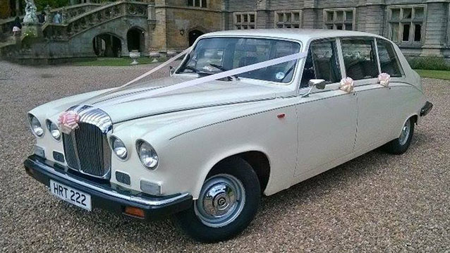 Daimler DS420 Limousine wedding car for hire in Huddersfield, West Yorkshire