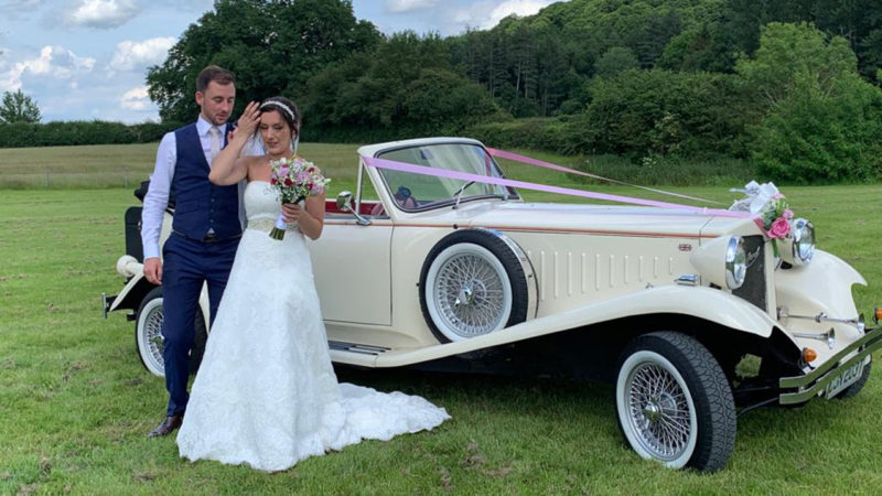 Beauford Convertible wedding car for hire in Huddersfield, West Yorkshire