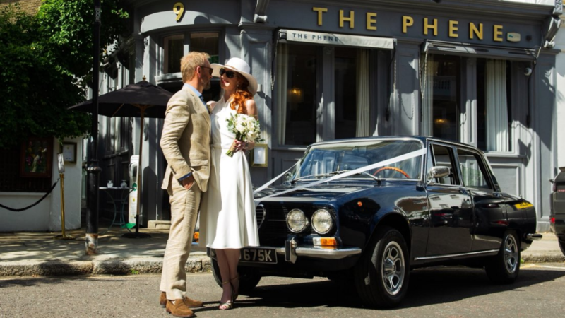 Alfa Romeo 2000 Berlina wedding car for hire in West London