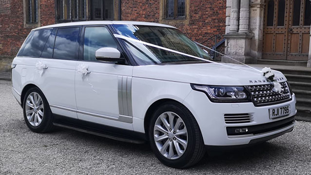 Range Rover Vogue wedding car for hire in Barnsley, South Yorkshire
