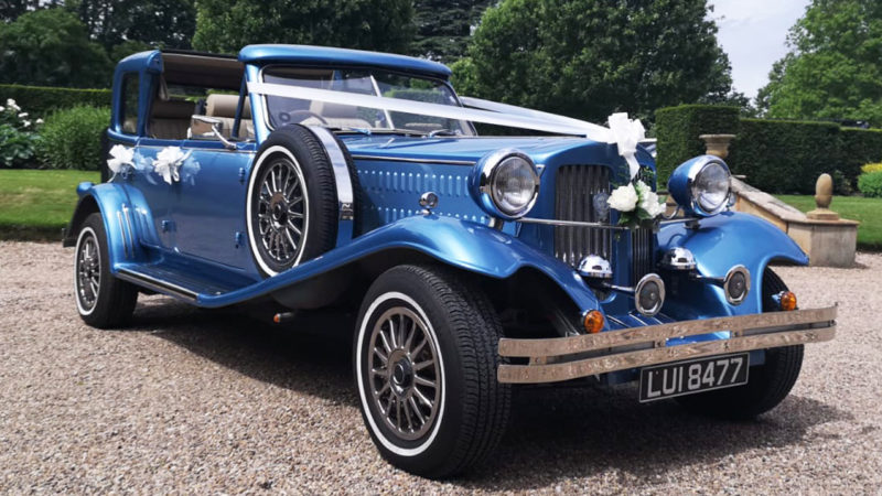 Beauford Convertible Sedanca De Ville wedding car for hire in Barnsley, South Yorkshire