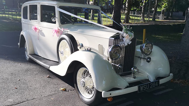 Rolls-Royce 20/25 Limousine Hooper wedding car for hire in Barnsley, South Yorkshire