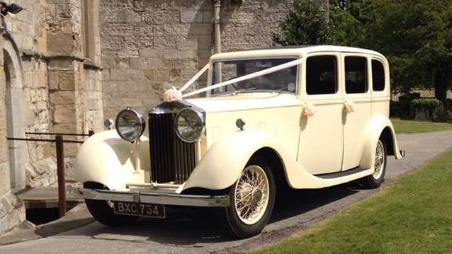 Rolls-Royce 20/25 Limousine Hooper wedding car for hire in Huddersfield, West Yorkshire