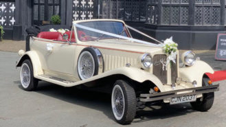 Beauford Convertible wedding car for hire in Barnsley, South Yorkshire