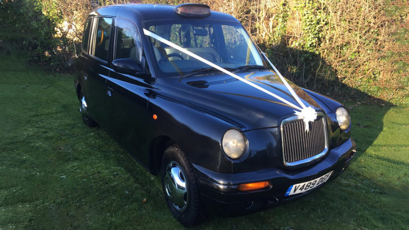 Taxi Cab wedding car for hire in Leeds, West Yorkshire