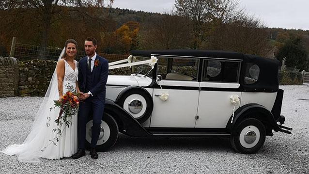 Regent Landaulette wedding car for hire in Huddersfield, West Yorkshire
