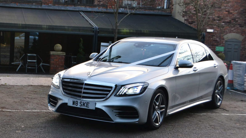 Mercedes 'S' Class AMG LWB wedding car for hire in Stockport, Manchester