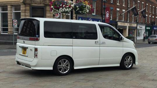 Nissan Elgrand XL wedding car for hire in Huddersfield, West Yorkshire