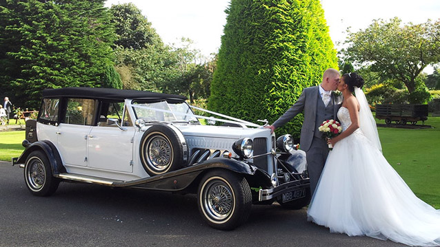 Beauford 4 Door Convertible wedding car for hire in Huddersfield, West Yorkshire