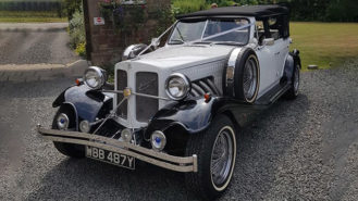 Beauford 4 Door Convertible wedding car for hire in Barnsley, South Yorkshire
