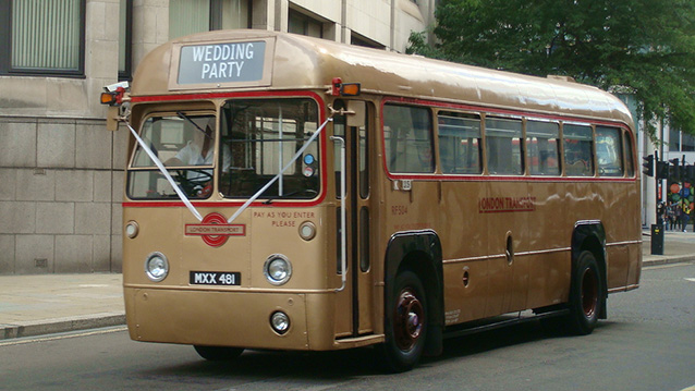 Classic Single Decker wedding Bus