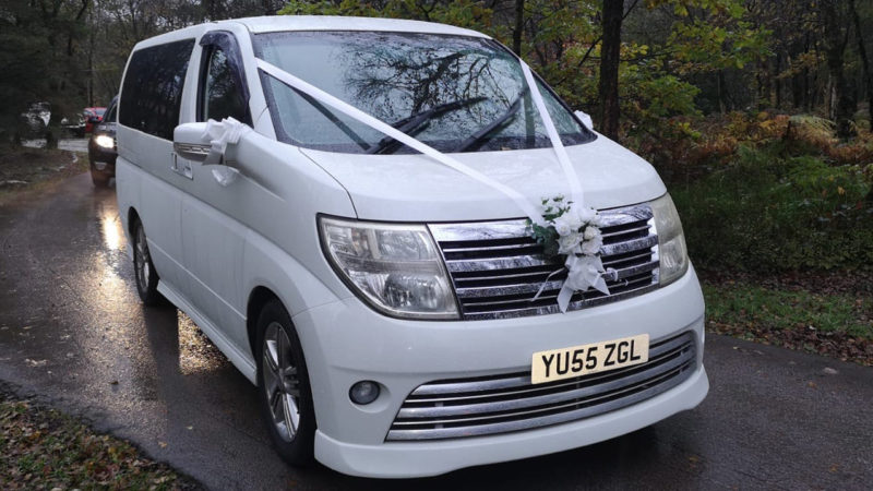 Nissan Elgrand Rider Autech wedding car for hire in Huddersfield, West Yorkshire
