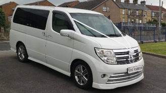 Nissan Elgrand XL wedding car for hire in Barnsley, South Yorkshire