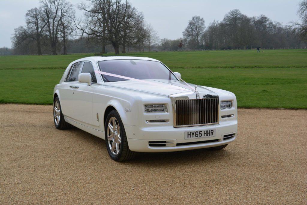 White Rolls Royce Phantom Series 2