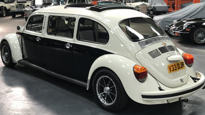 Volkswagen Stretched Beetle wedding car for hire in Glasgow, Scotland