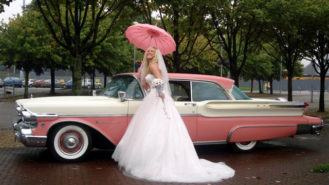 Ford Mercury Montclair wedding car for hire in Glasgow, Scotland