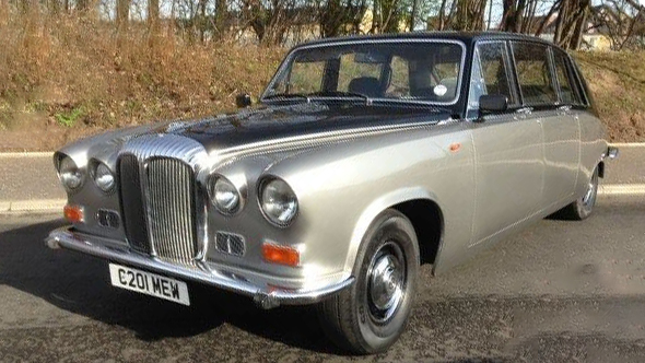 Daimler DS420 Limousine wedding car for hire in Glasgow, Scotland