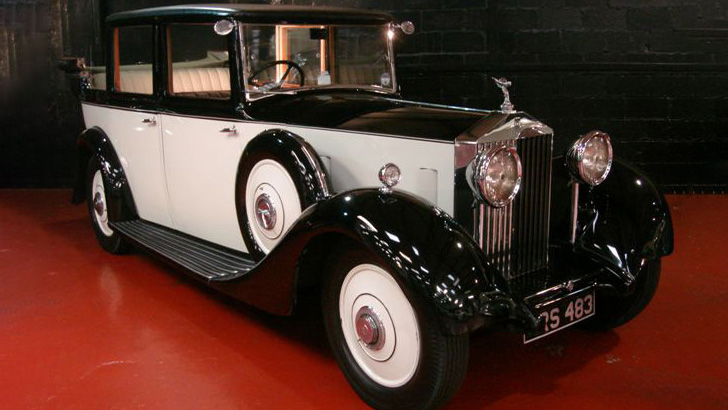 Rolls-Royce 20/25 Landaulette wedding car for hire in Glasgow, Scotland