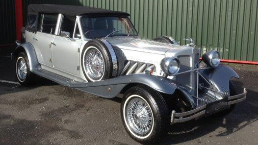 Beauford Convertible LWB wedding car for hire in Glasgow, Scotland