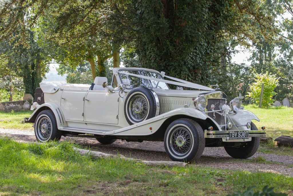 Vintage Convertible Beauford wedding Car Hire