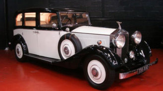 Rolls-Royce 20/25 Limousine wedding car for hire in Glasgow, Scotland