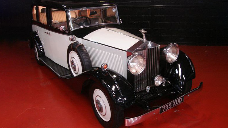 Rolls-Royce 20/25 Limousine wedding car for hire in Glasgow, Scotland