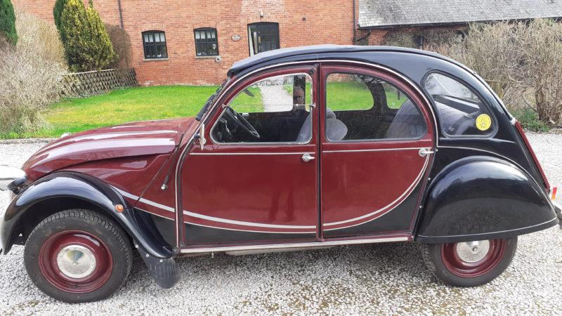 Citroen 2CV Charleston wedding car for hire in Exeter, Devon