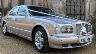 Bentley Arnage wedding car for hire in Christchurch, Dorset