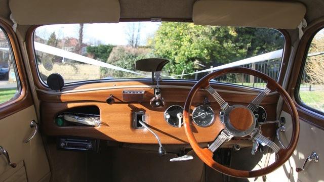 Citroen Traction Avant wedding car for hire in Exeter, Devon