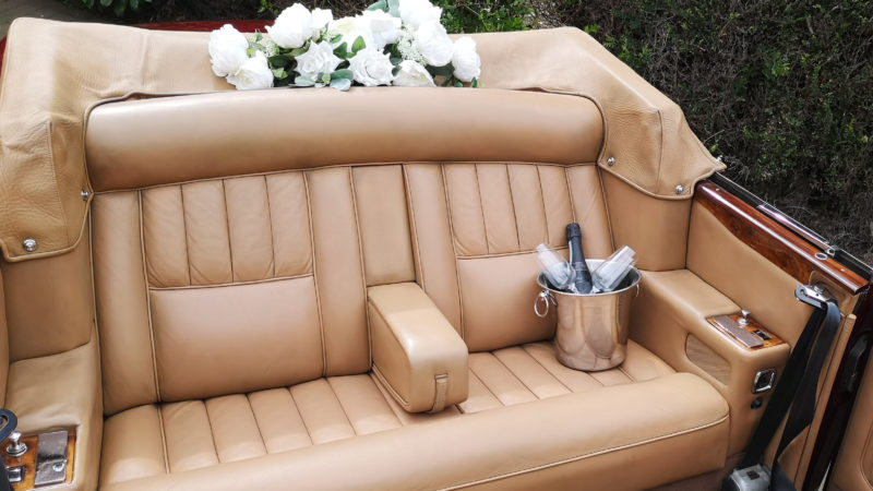Rolls-Royce Corniche Convertible wedding car for hire in Barnsley, South Yorkshire