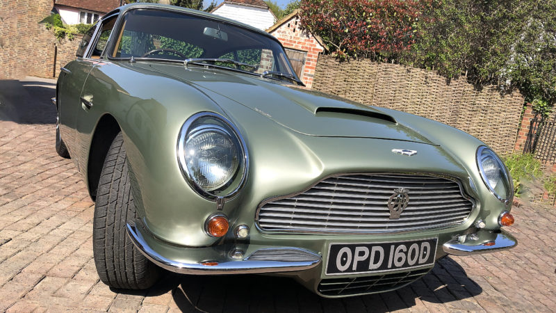 Aston Martin DB6 wedding car for hire in Uckfield, East Sussex
