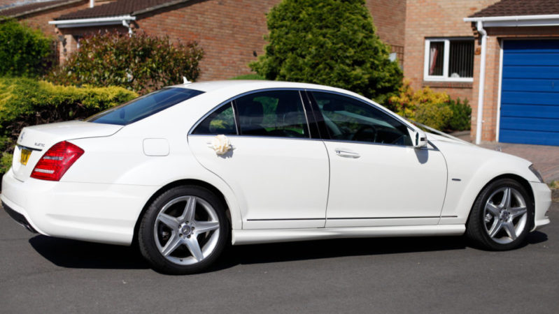 Mercedes 'S' Class AMG wedding car for hire in Chippenham, Wiltshire
