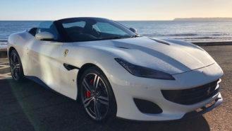 Ferrari Portofino wedding car for hire in Paignton, Devon