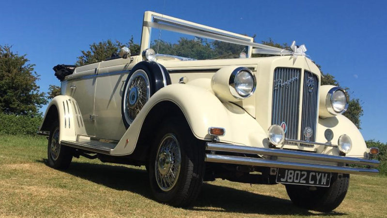 Regent Convertible wedding car for hire in Burgess Hill, West Sussex