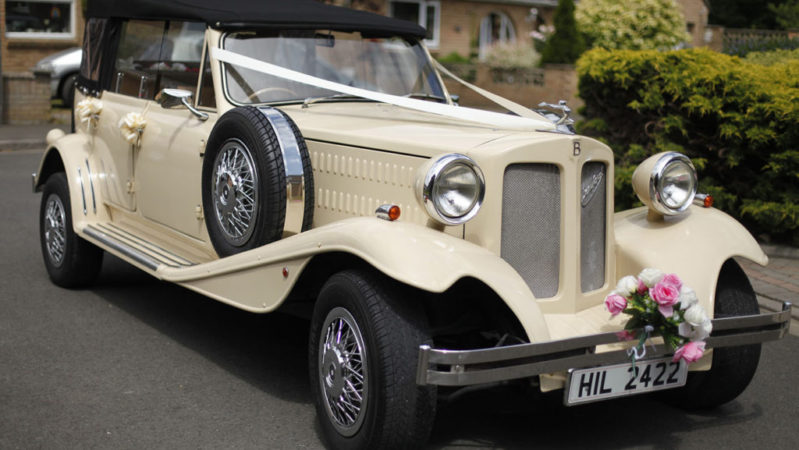 Beauford Convertible LWB wedding car for hire in Chippenham, Wiltshire