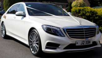 Mercedes 'S' Class Hybrid wedding car for hire in Chippenham, Wiltshire