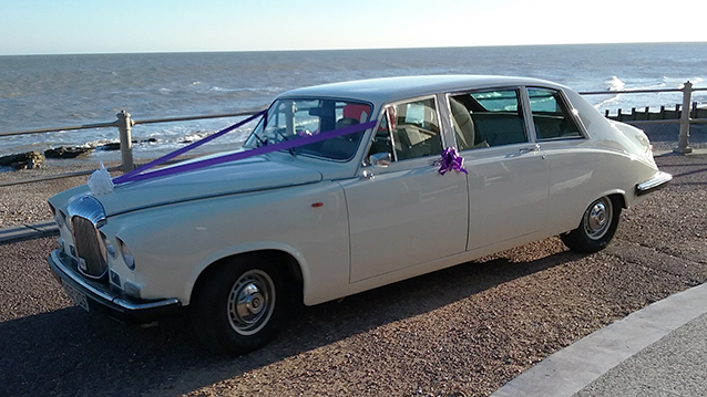 Daimler DS420 Limousine wedding car for hire in Uckfield, East Sussex