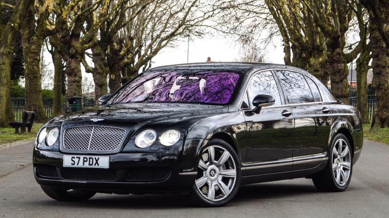 Bentley Continental Flying Spur wedding car for hire in Birmingham, West Midlands