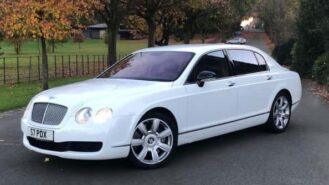 Bentley Continental Flying Spur wedding car for hire in Birmingham, West Midlands
