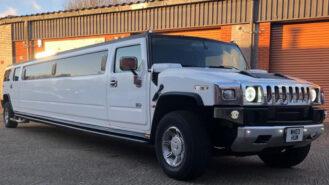 Hummer H2 Limousine wedding car for hire in Birmingham, West Midlands