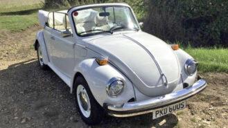 Volkswagen Beetle Convertible wedding car for hire in Bracknell, Berkshire