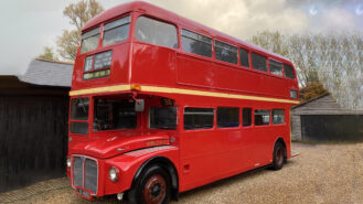 Routemaster London Bus wedding car for hire in Lewes, East Sussex
